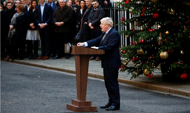 Boris Johnson delivers statement at Downing Street after winning election
