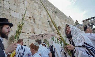 Watch: Sukkot prayers at the Western Wall