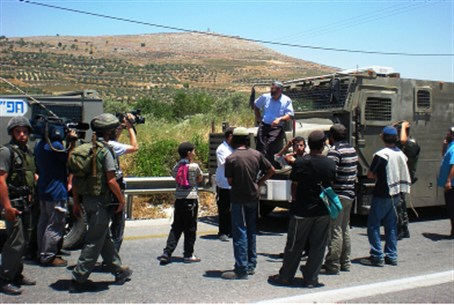 Confrontation near Yitzhar (file)