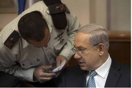 PM Netanyahu speaks to military advisor