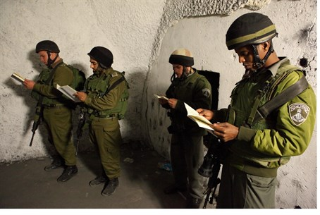 IDF soldiers at Joseph's Tomb (file)
