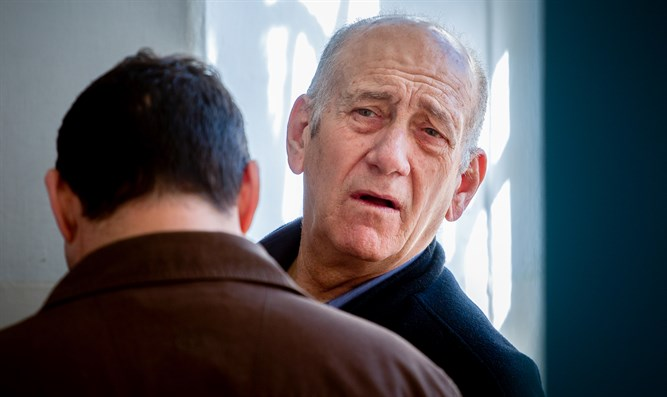 Ehud Olmert in court