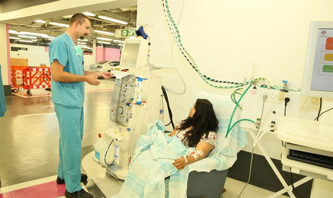 Rambam's Dialysis Unit caring for patients in underground hospital