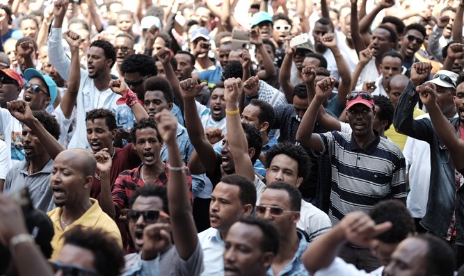 Eritreans in Tel Aviv