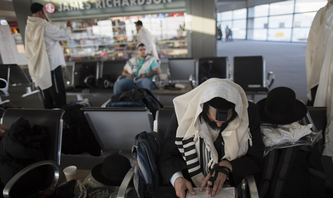 Waiting in Ben Gurion to get to Uman