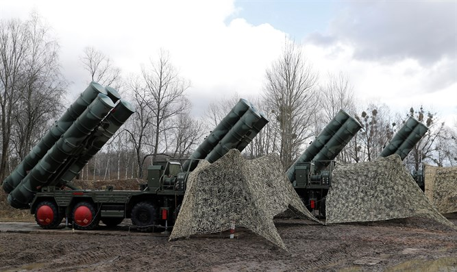 S-400 Triumph surface-to-air missile system after deployment