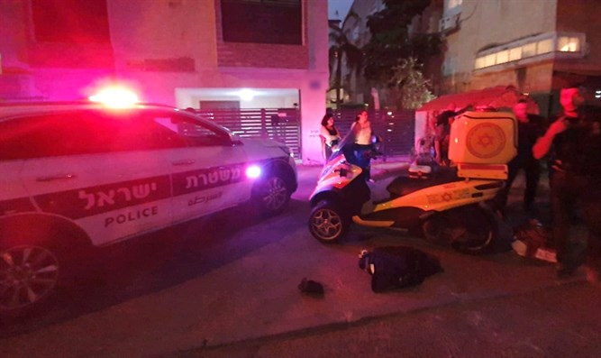 Scene of shooting in Kiryat Haim
