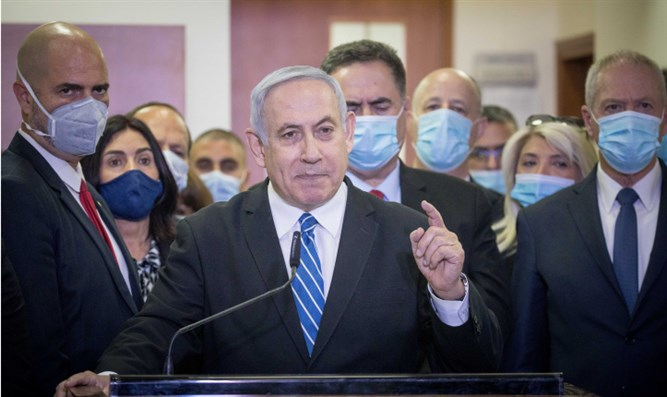 Netanyahu addresses reporters ahead of trial hearing